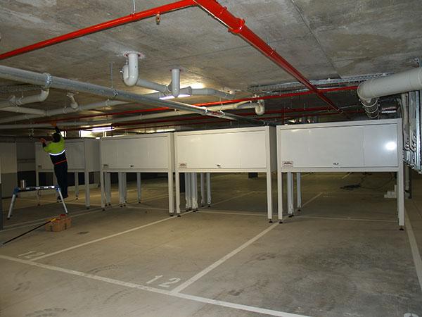 Basement carpark storage