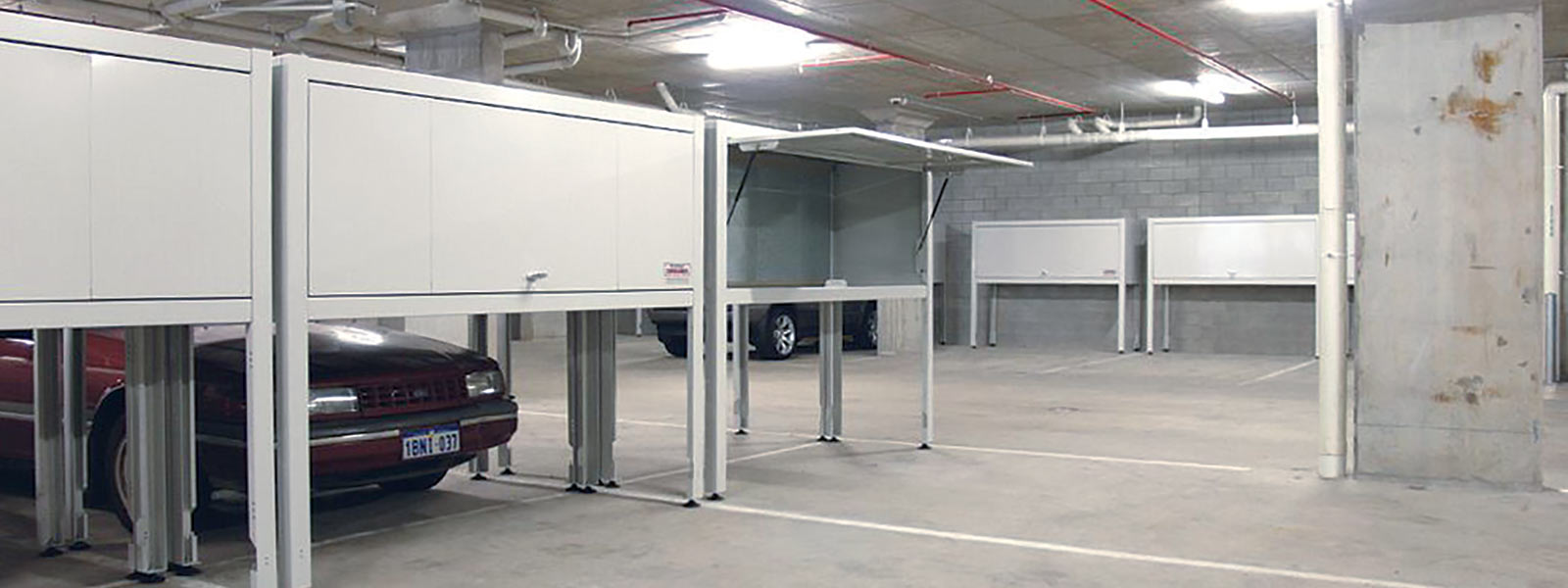 Over bonnet storage unit space commander apartment storage for Apartment garage storage